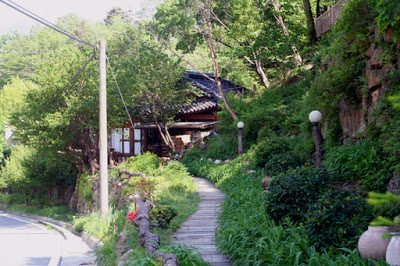The Path to Her Home and Tea Area