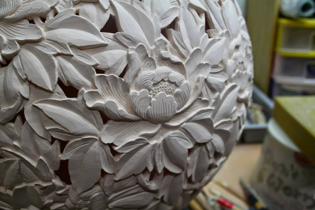 Detail Partially Dried Double Walled Flower Design Jeon Seong Keun