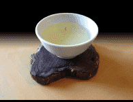 a cup of Korean green tea